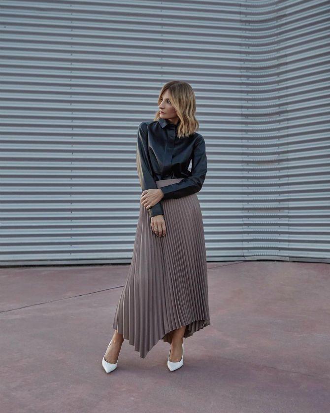 плиссированная юбка 2020