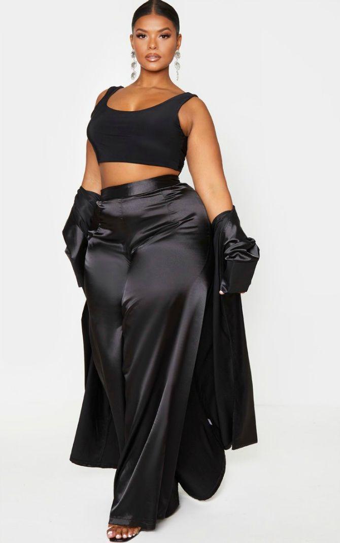черные брюки для полных женщин