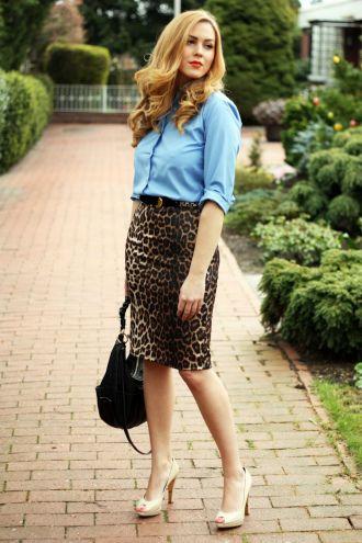 Классическая юбка леопардовая