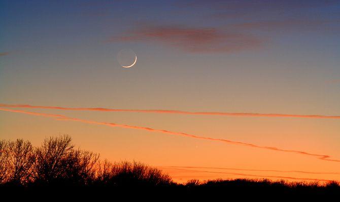 небо с луной