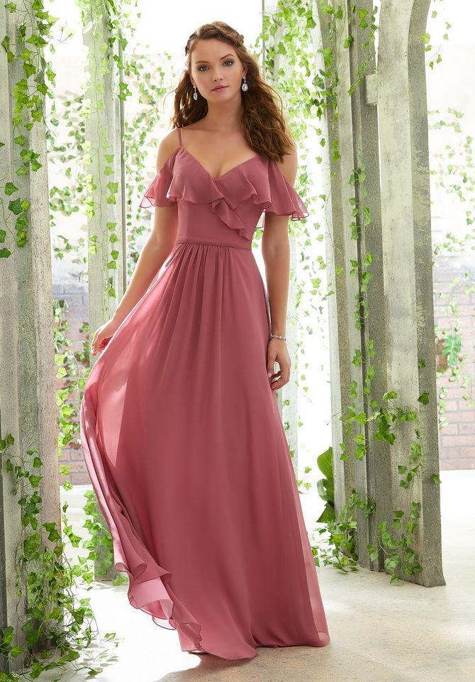 сукня з воланами на грудях 2020