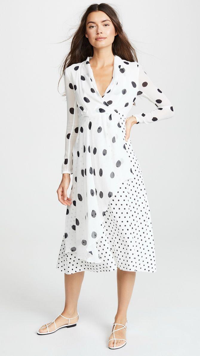 незрвняння сукня в горошок