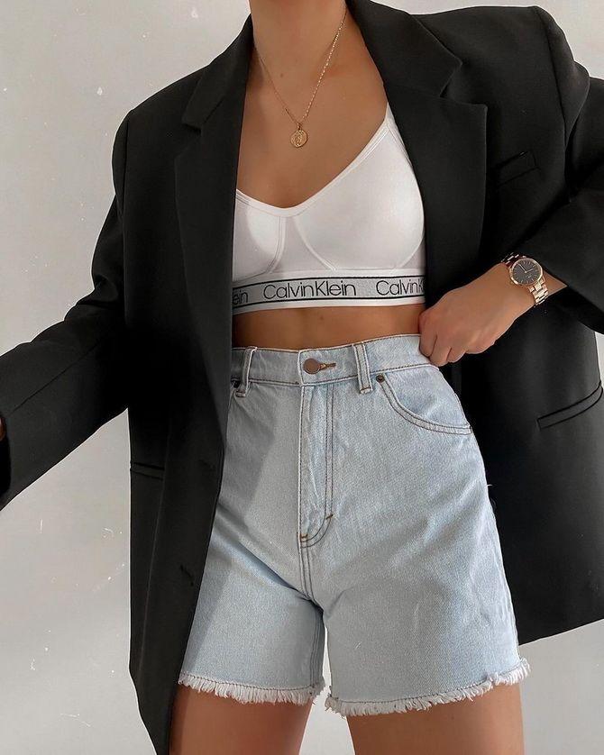 короткие джинсовые шорты 2020-2021 года