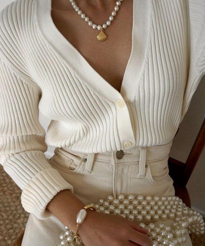 белый кардиган женский вязаный
