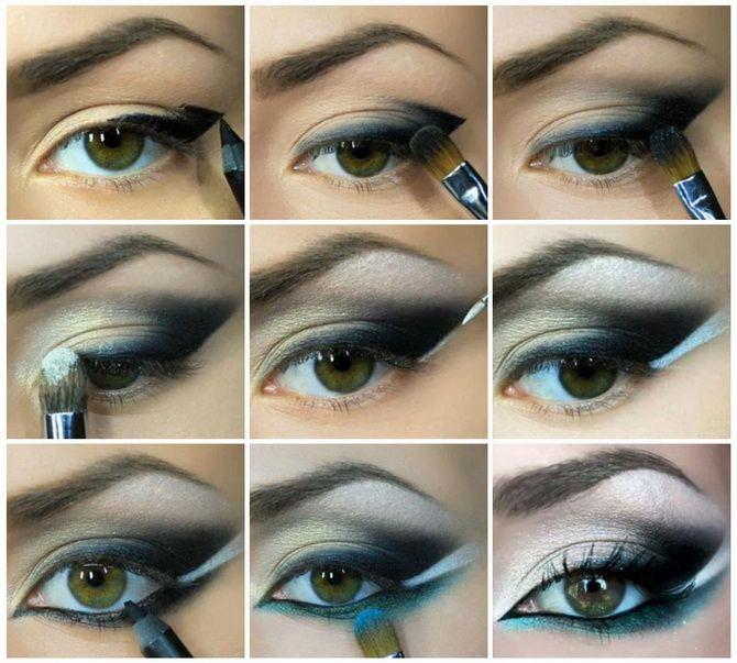 макияж бровей и глаз
