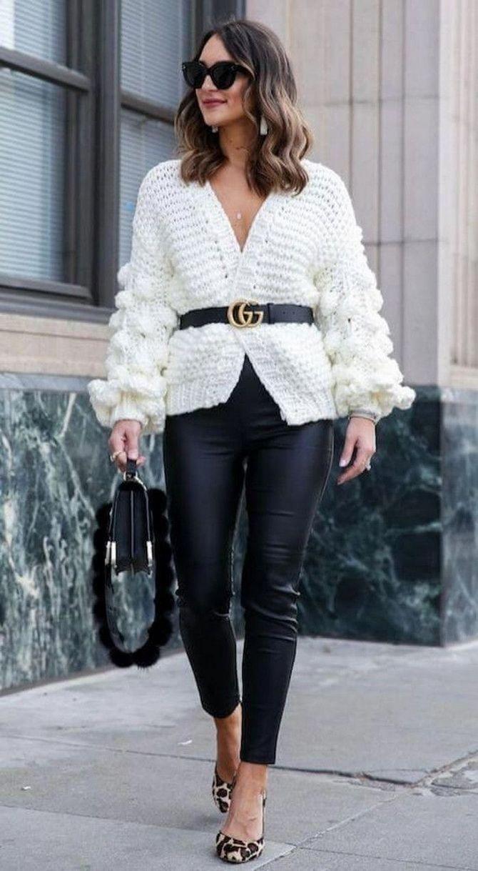 weiße Ledergamaschen