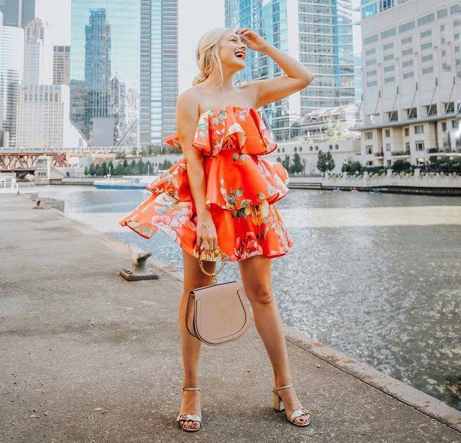 сукня з воланами по всій довжині 2020