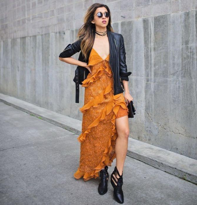модні сукні з воланами 2020