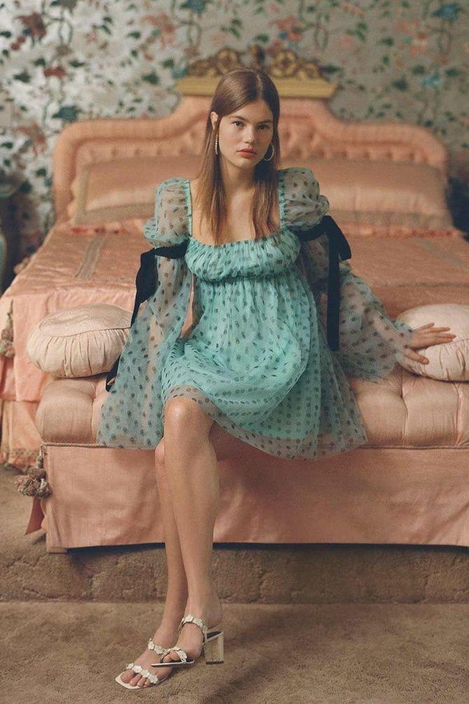 зелена сукня в горошок 2020