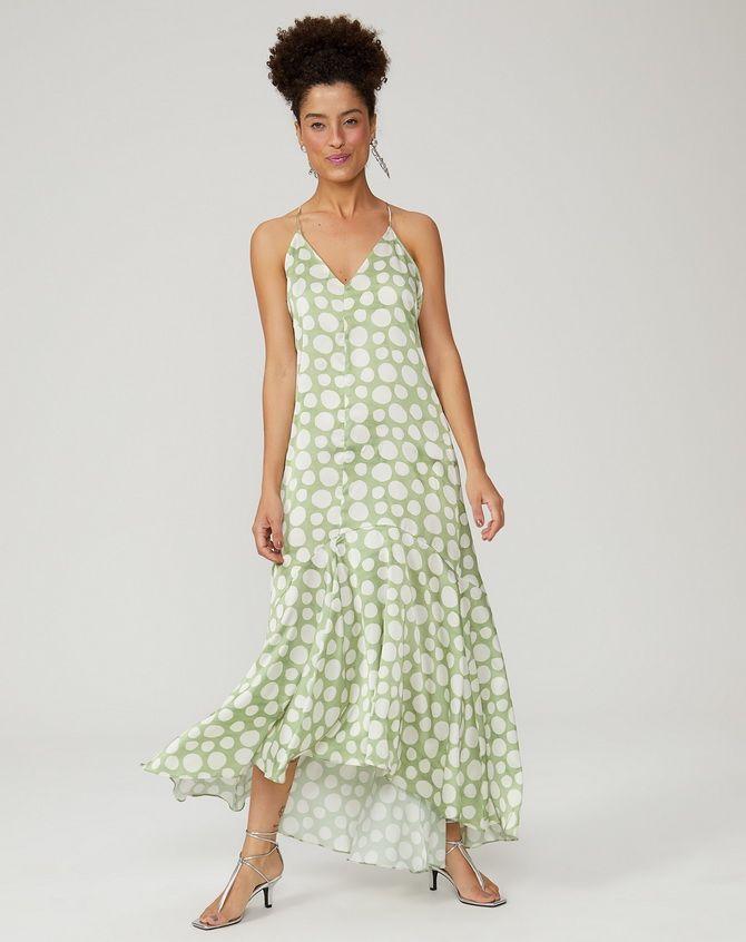 літня сукня з воланами горошок
