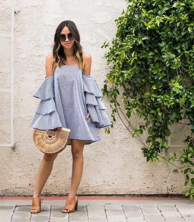 літня сукня з рукавами-воланами 2020-2021