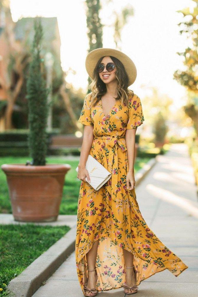 Длинные платья с запахом