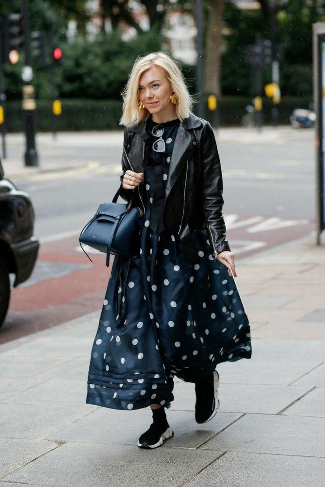 сукня в горошок з косухою