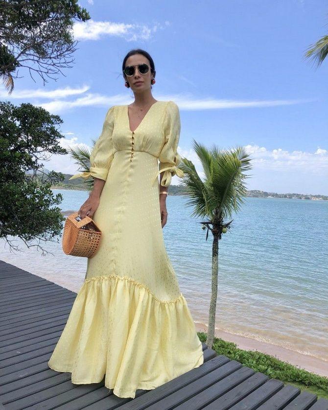 літня сукня з воланами жовта 2020-2021