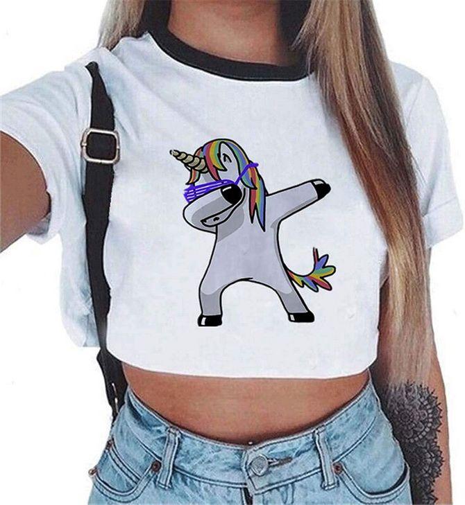 Короткие футболки 2020