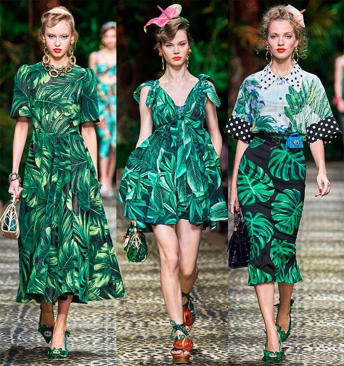 літні сукні з тропічними принтами 2020
