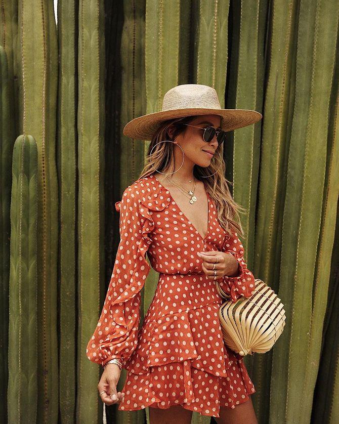 сукня в горошок з шапкою