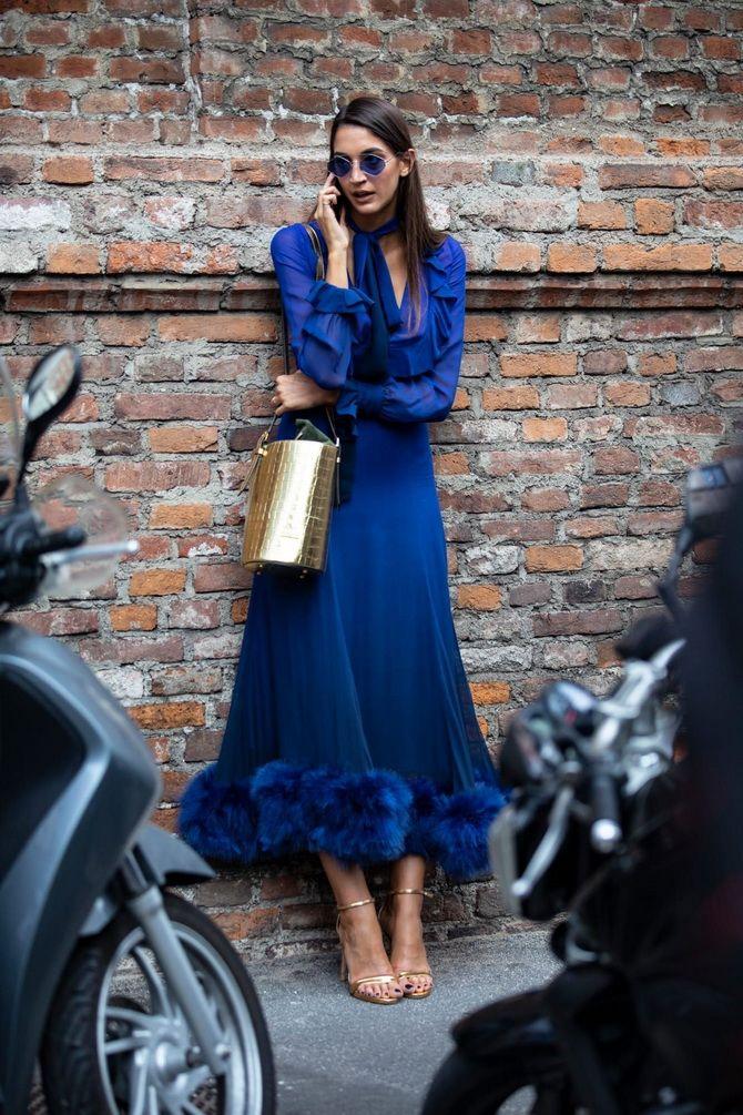синя літня сукня 2020