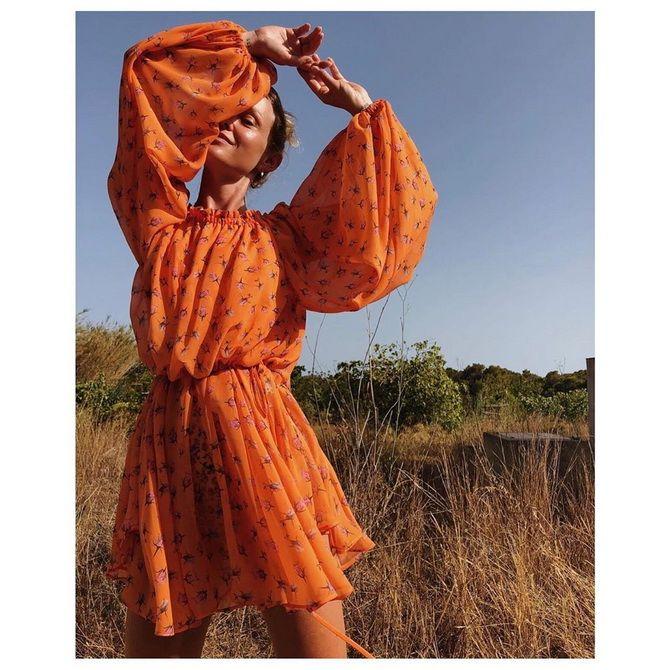 помаранчева літня сукня 2020