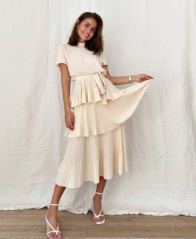 модні жіночі сукні з плисіровкою 2020