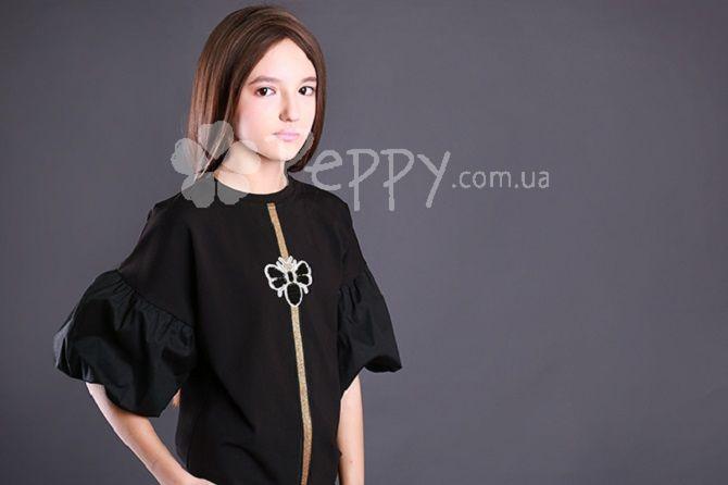 черная школьная блуза
