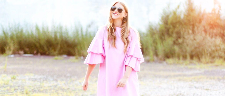 Модний тренд 2020-2021 року: сукня з воланами