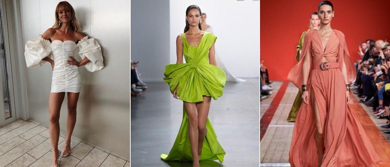 14 моделей платьев с драпировкой, которые стоит примерить в 2021-2022 году