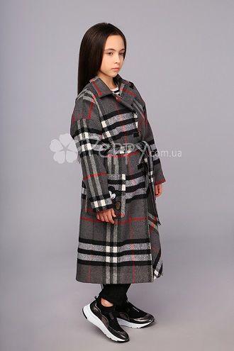 клечатое пальто на девочку