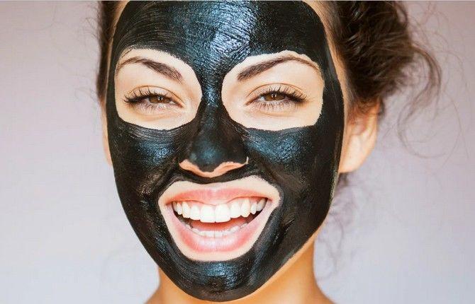 домашняя черная маска от черных точек