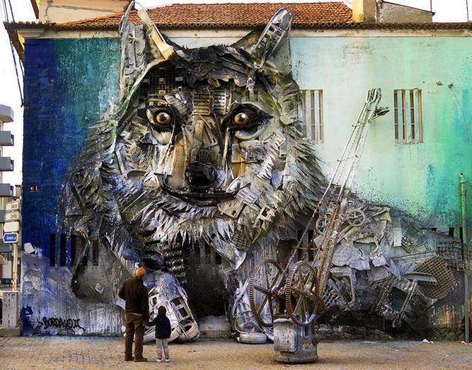 волк инсталляция