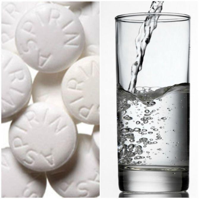 Маска от прыщей с аспирином