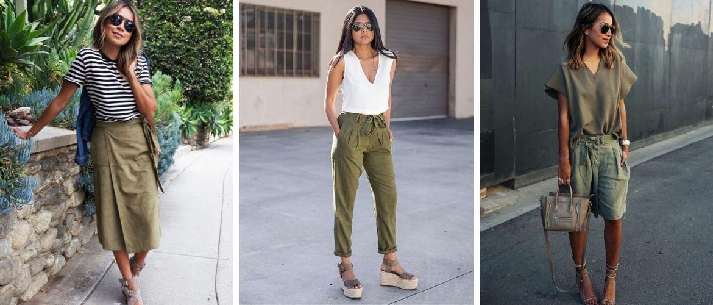 50 способов, как сделать модный look 2021 с цветом хаки