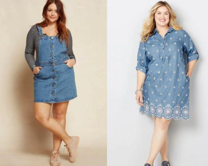 джинсовые платья и сарафаны для полных