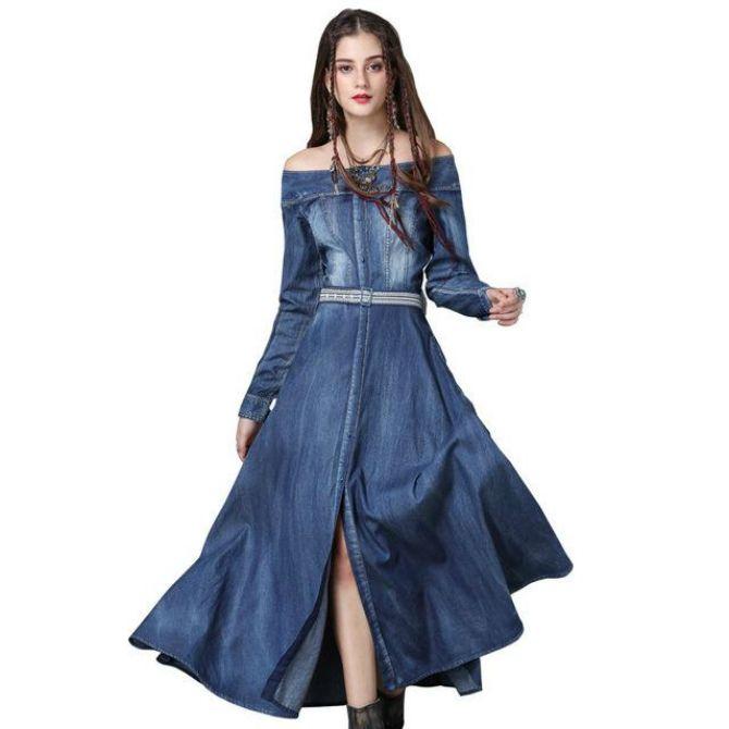 джинсовые платья 2020