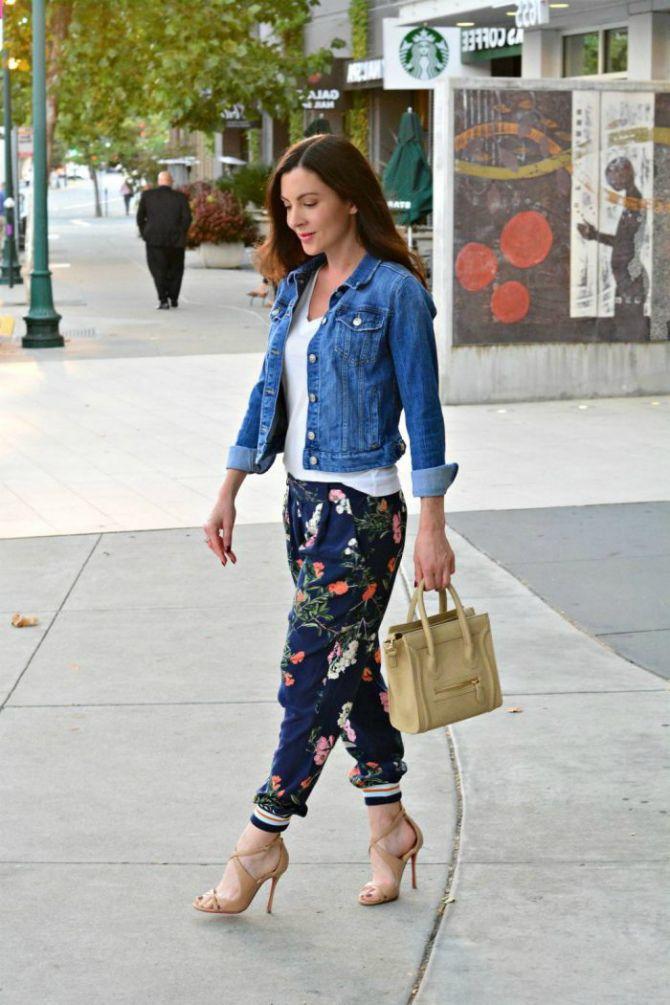 джинсы джоггеры женские