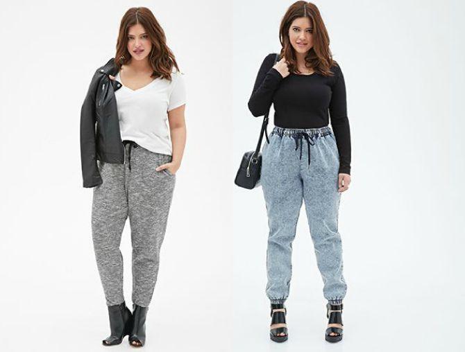 джинсовые джоггеры