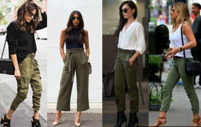 50 способов, как сделать модный look 2021 с цветом хаки 5