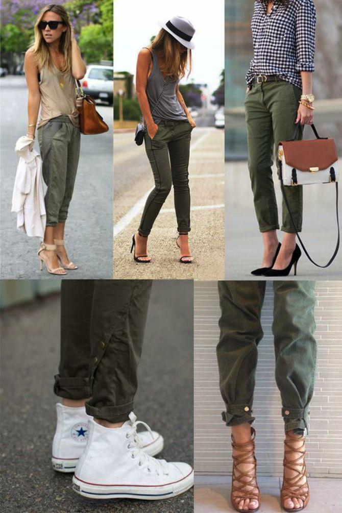 брюки хаки