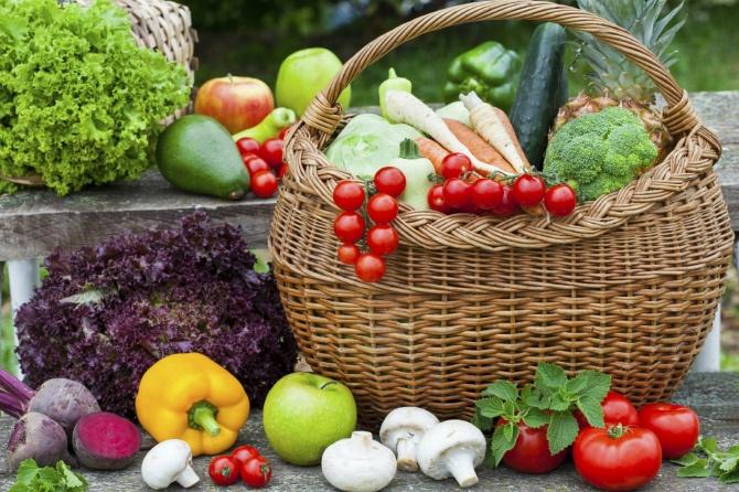 корзинка з овощами