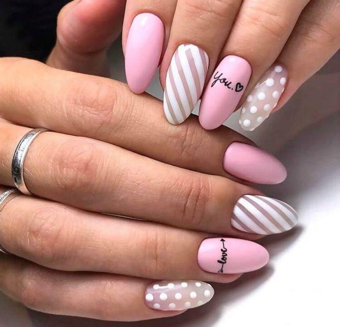 рожевий манікюр на довгі нігті