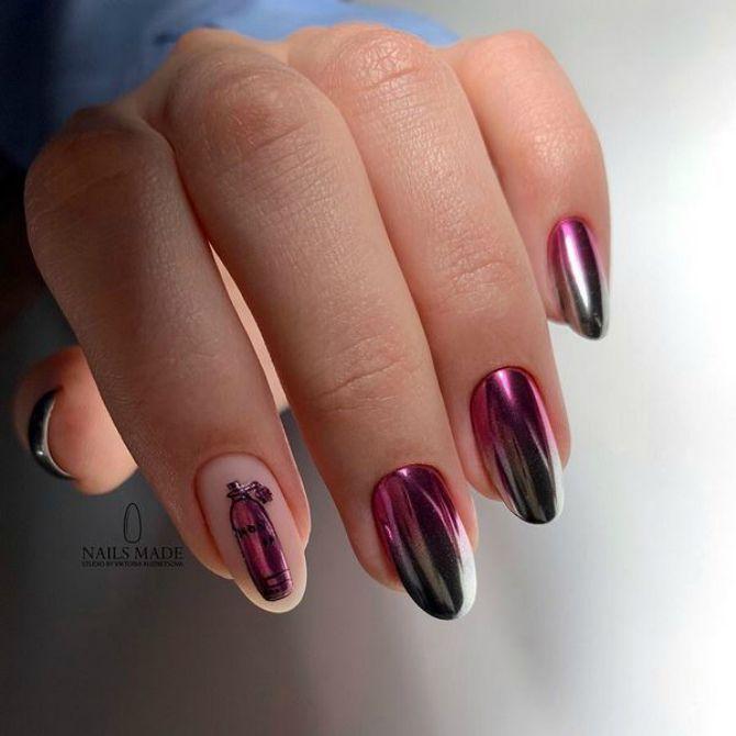 яскравий манікюр на довгі нігті