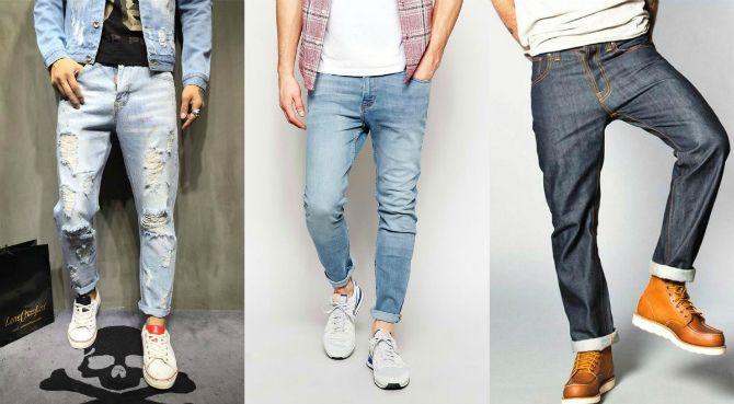 джинсы с отворотом 2020