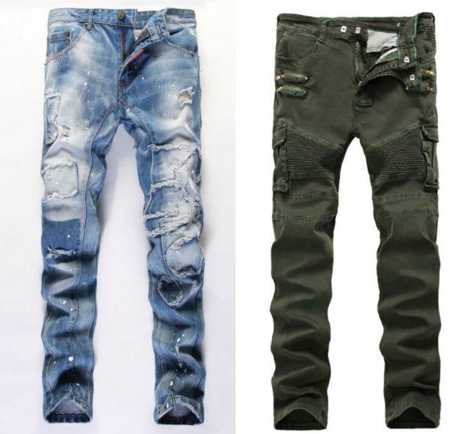 джинсы бананы мужские