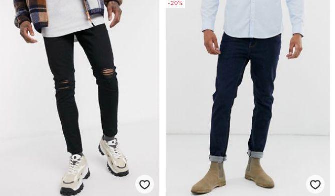 джинсы мужские зауженные