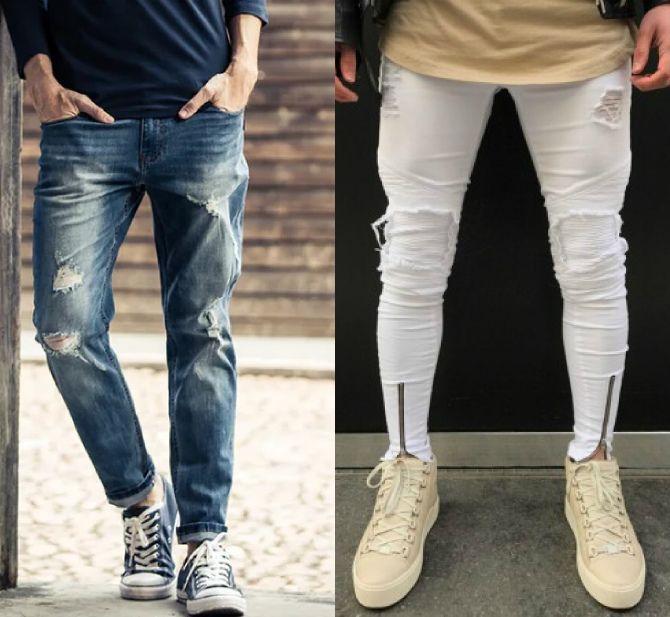 белые джинсы мужские
