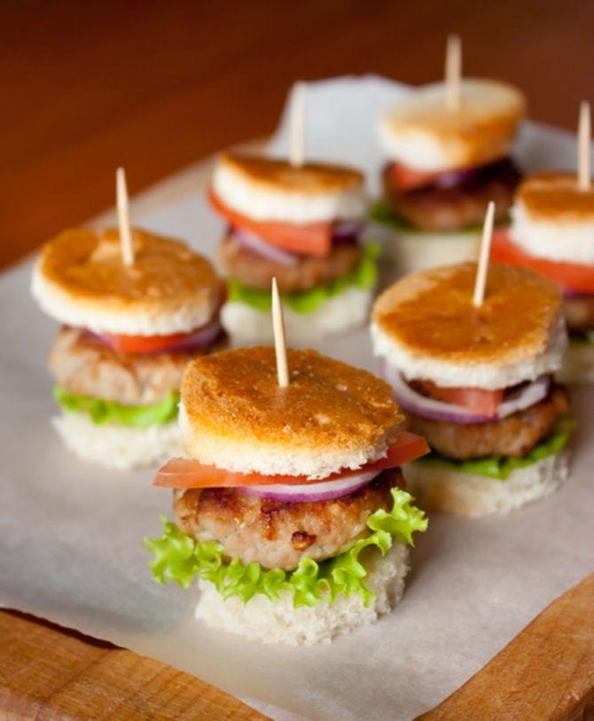 Міні гамбургери покроково з фото