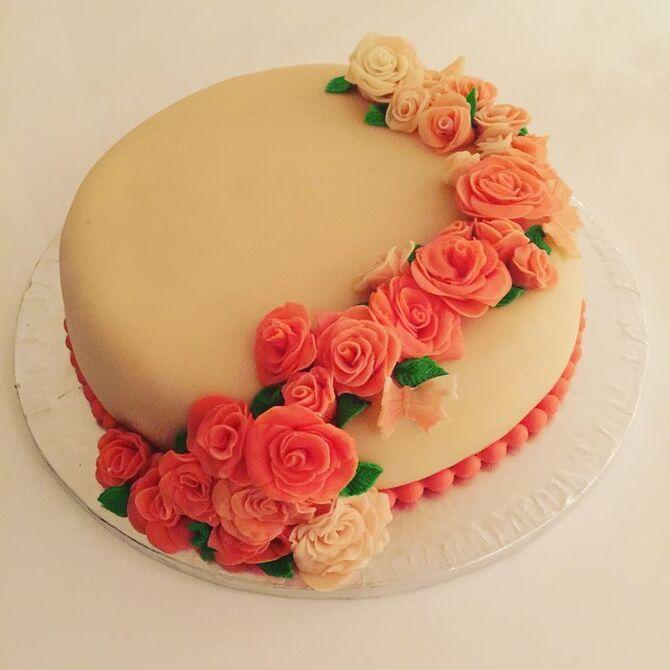 Торт з марципаном