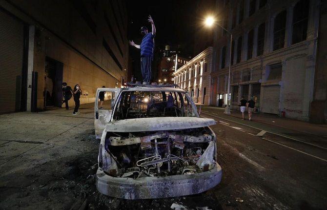протесты нью-йорк