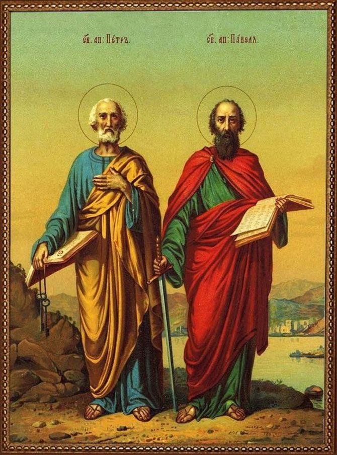 ікона апостола Петра і Павла