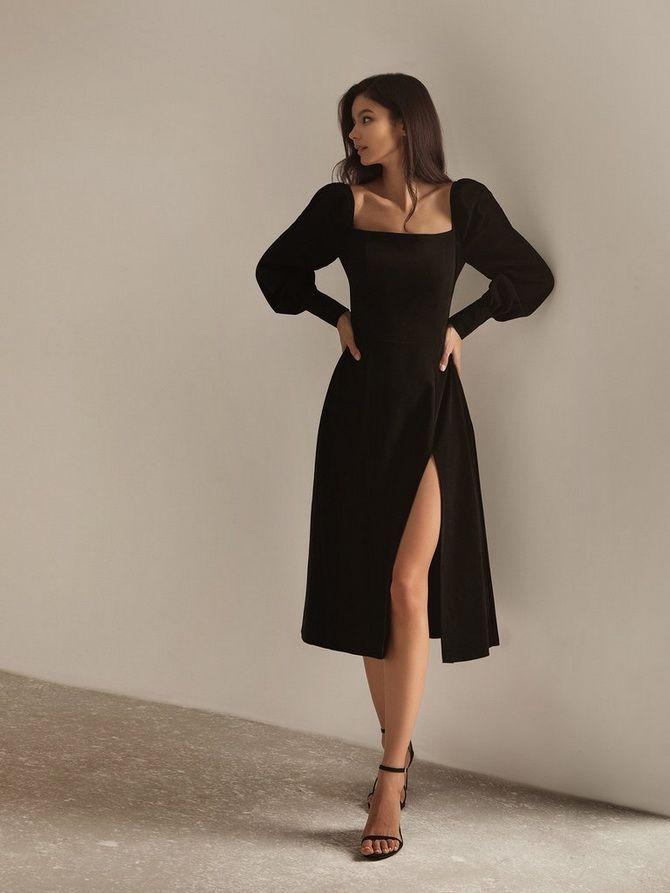 Платья с вырезом каре